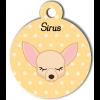 Médaille personnalisée petit chien crème