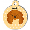 Médaille personnalisée pour chien marron clair