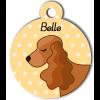 Médaille personnalisée chien marron clair oreilles longues