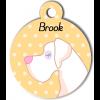 Médaille personnalisée chien blanc poils courts