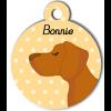Médaille personnalisée chien caramel poils courts