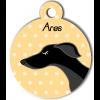 Médaille personnalisée chien fin noir