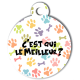 medaille_personalisee_chien_fashion_patoune_multicolore_meilleur_os