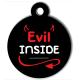 medaille_personnalisee_chien_lifestyle_evil_inside_diable_enfer_cornes_rouge_noir