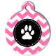 medaille_personnalise_chien_patoune_fashion_zigzag_rose