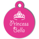 medaille_personnalisee_chien_pastel_princesse_rose_couronne
