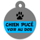 medaille_personnalisee_chien_puce_grise_bleu