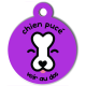 medaille_personnalisee_chien_puce_violette