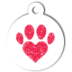 medaille_personnalisee_chien_patoune_simple_love_coeur_rouge