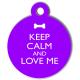 médaille_personnalisé_chien_keep_calm_fashion_violet