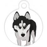 Médaille personnalisée pour chien Husky