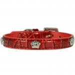 collier cuir rouge chien