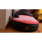 sofa rose chien