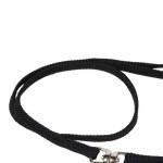 laisse chien noir nylon plate