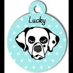 Médaille bleu chien dalmatien