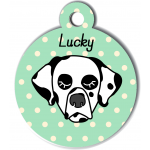 Médaille vert chien dalmatien