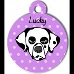 Médaille violet chien dalmatien