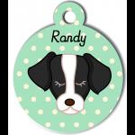 vert personnalisée violet pour chien noir et blanc