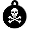 Médaille personnalisée chien tête de mort pirate