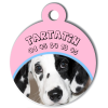 Medaille personalisee chien My Dog photo entière Tartatin