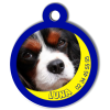 Medaille personalisee chien My Dog photo entière Luna