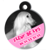 Medaille personalisee chien My Dog photo Fleur de Lys