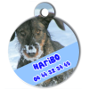 Medaille personalisee chien My Dog photo entière Haribo