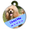 Medaille personalisee chien My Dog photo entière Canichou