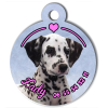 Medaille personalisee chien My Dog photo entière Lady