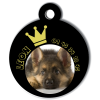 Medaille personalisee chien My Dog photo entière Leon