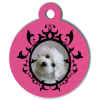 Medaille personalisee chien My Dog photo Portrait rose
