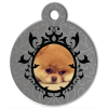 Medaille personalisee chien My Dog photo Portrait gris