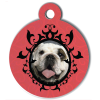 Medaille personalisee chien My Dog photo Portrait rouge