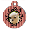 Medaille personalisee chien My Dog photo rayures