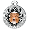 Medaille personalisee chien My Dog photo motifs gris