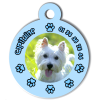 Medaille personalisee chien My Dog photo Capitaine