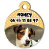 Medaille personalisee chien My Dog photo Honey