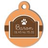 Medaille chien gravé Nam'Art Baron