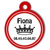 Medaille chien gravé Nam'Art Fiona
