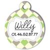 Medaille chien gravé Nam'Art Willy