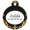 Medaille chien gravé Nam'Art Zelda