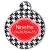 Medaille chien gravé Nam'Art Ninette