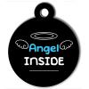Médaille personnalisée chien Lifestyle angel inside