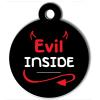 Médaille personnalisée chien Lifestyle evil inside