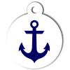 Médaille personnalisée chien Marine ancre bleue