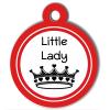 Médaille personnalisée chien Fashion Little Lady couronne