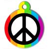 Médaille personnalisée chien Lifestyle peace and love blanche