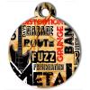 Médaille personnalisée chien Lifestyle grunge