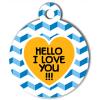Médaille personnalisée chien Fashion hello love