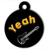 Médaille personnalisée chien Lifestyle yeah guitare